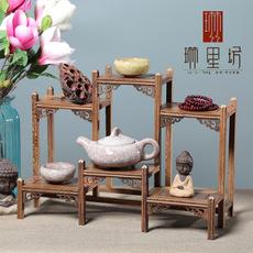 鸡翅木博古架木质工艺品多宝阁文玩展示架木质书房茶几摆件实木