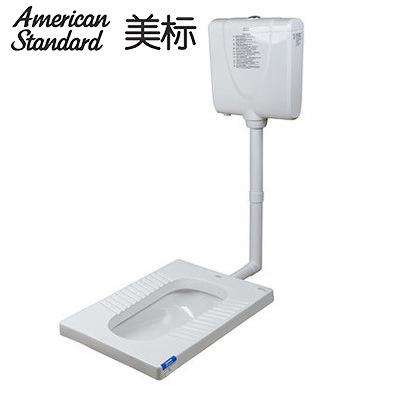美标卫浴8009新科德方形蹲厕 (无存水弯)包含水箱 大便器 蹲式
