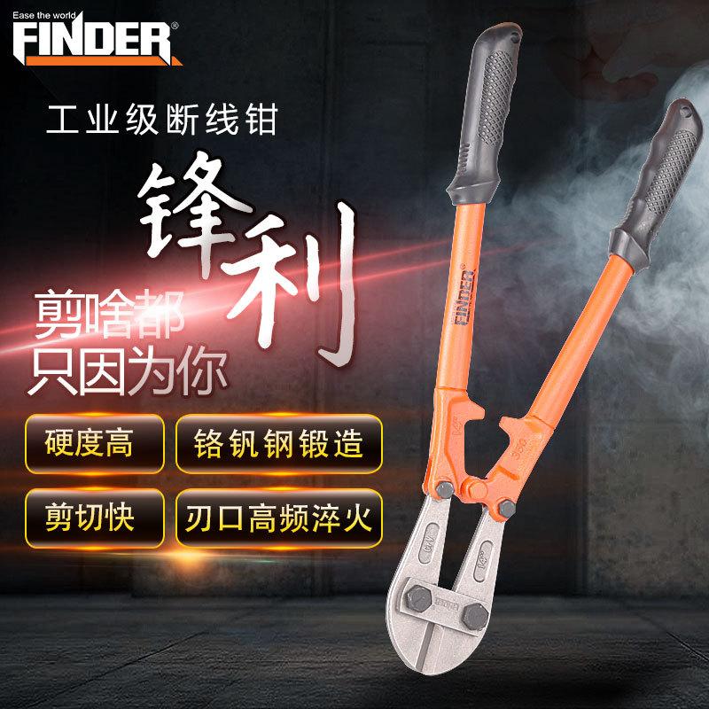 精品五金工具手动钳子 外贸重型断线钳电缆剪24寸 扁嘴钢筋剪