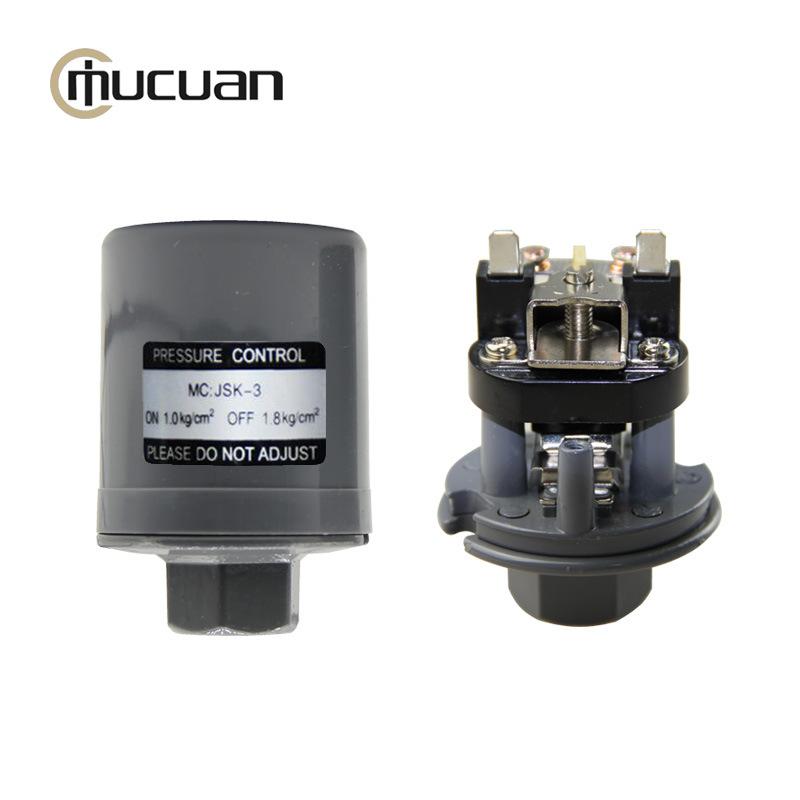 【批发】全自动冷热水自吸泵压力开关双触点银点锌合金底座 JSK-3