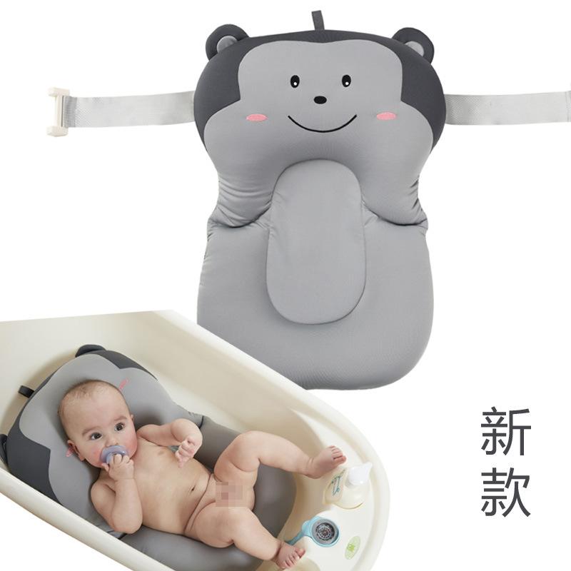 小猴子婴儿沐浴垫 宝宝洗澡垫网兜 防滑新生儿浴床漂浮洗澡垫现货
