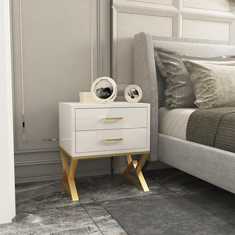 北欧卧室ns风少女储物柜简易迷你收纳柜i现代简约床边多层小柜子