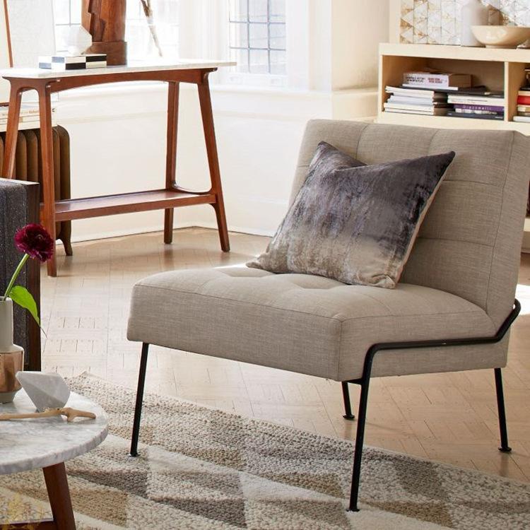 北欧简约阳台布艺懒人沙发椅服装店休闲单人沙发客厅看书沙发躺椅