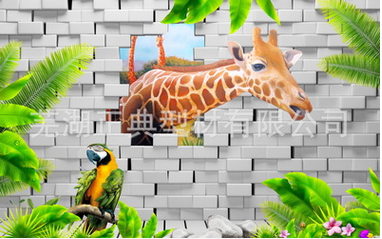 电视背景墙3D打印画亚光 客厅过道玄关按需定制 厂家直销高端定制