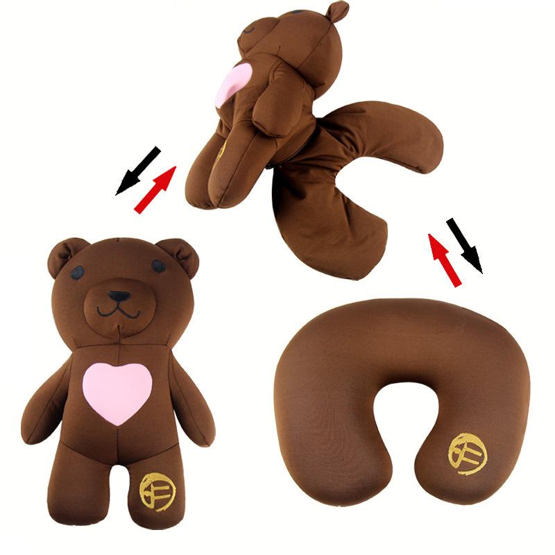 黄晓明同款 2in1 二合一两用变形粒子枕头 多功能抱枕 真爱小熊