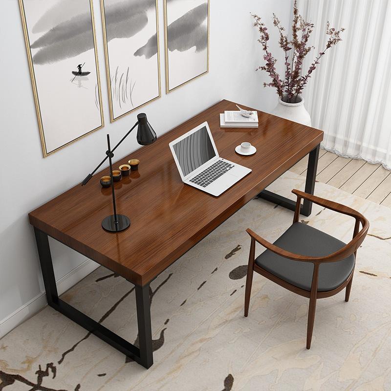 美式实木电脑桌家用台式书桌公司职员办公桌简约简易卧室写字桌子