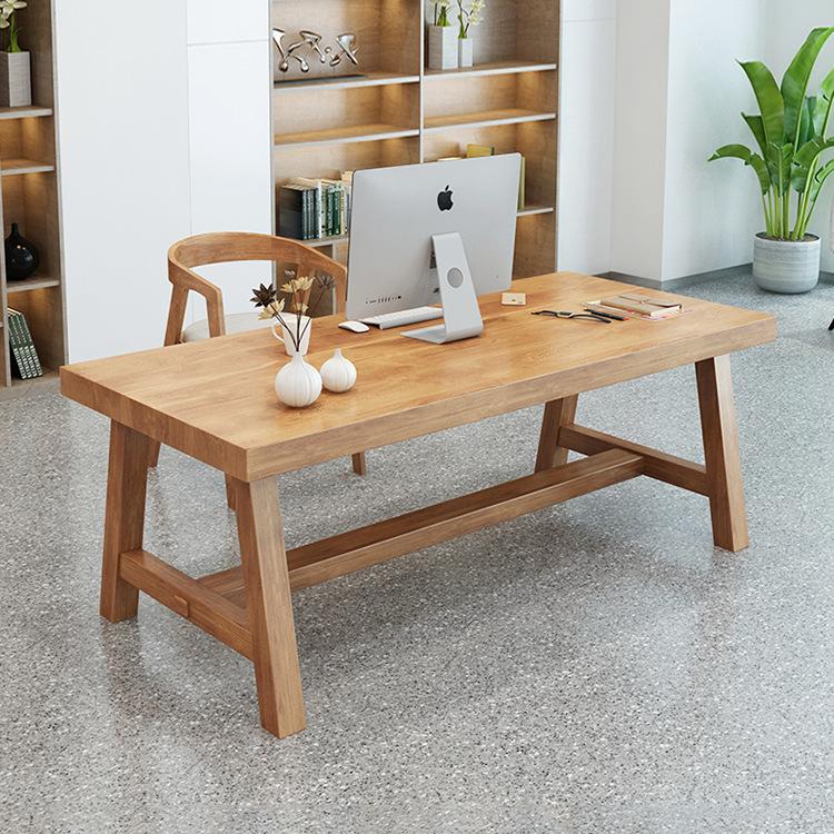 北欧实木办公桌椅组合家用书桌写字台公司办公室职员单人电脑桌椅