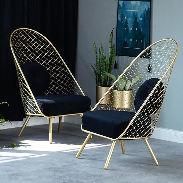 北欧轻奢客厅休闲沙发阳台靠背沙发椅办公室咖啡厅懒人休息小沙发