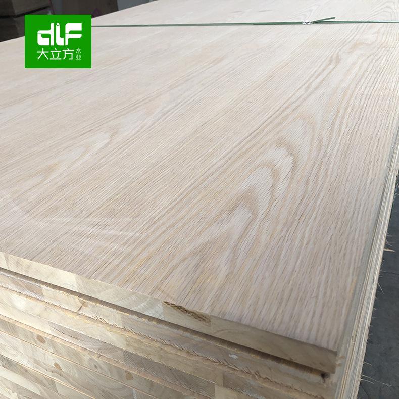 佛山厂家直销 AA20 实木橡木板材批发 白腊直拼板 红橡贴皮板