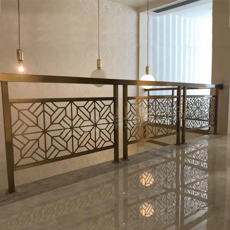 厂家定制酒店售楼部别墅室内阁楼平台中式304不锈钢楼梯扶手护栏