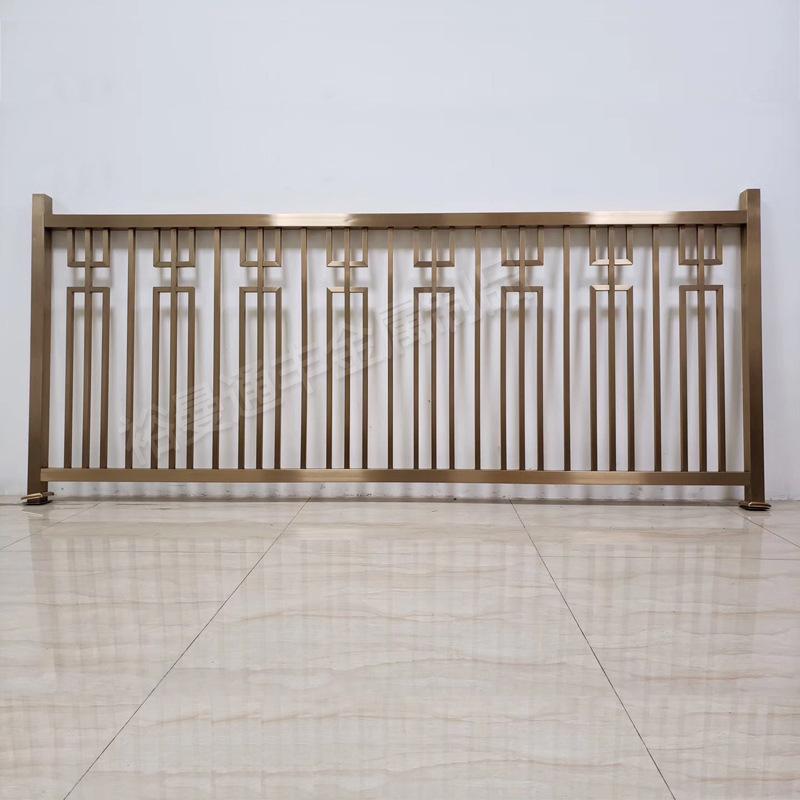 售楼部别墅内庭院复式欧式豪华304不锈钢楼梯扶手护栏围栏栏杆