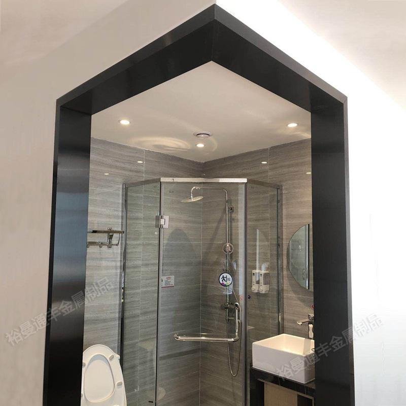 定做拉丝黑钛金包板装饰不锈钢门套 加工酒店304包边不锈钢门框