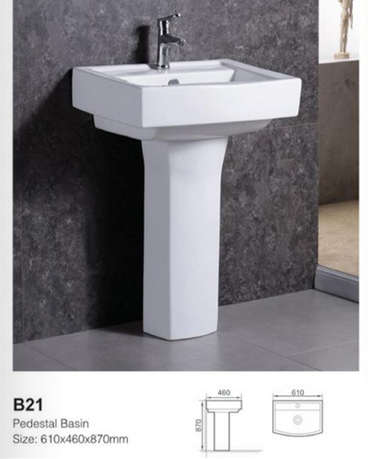 厂家生产挂墙洗手盆 阳台厕所洁具陶瓷洗手大号立柱盆