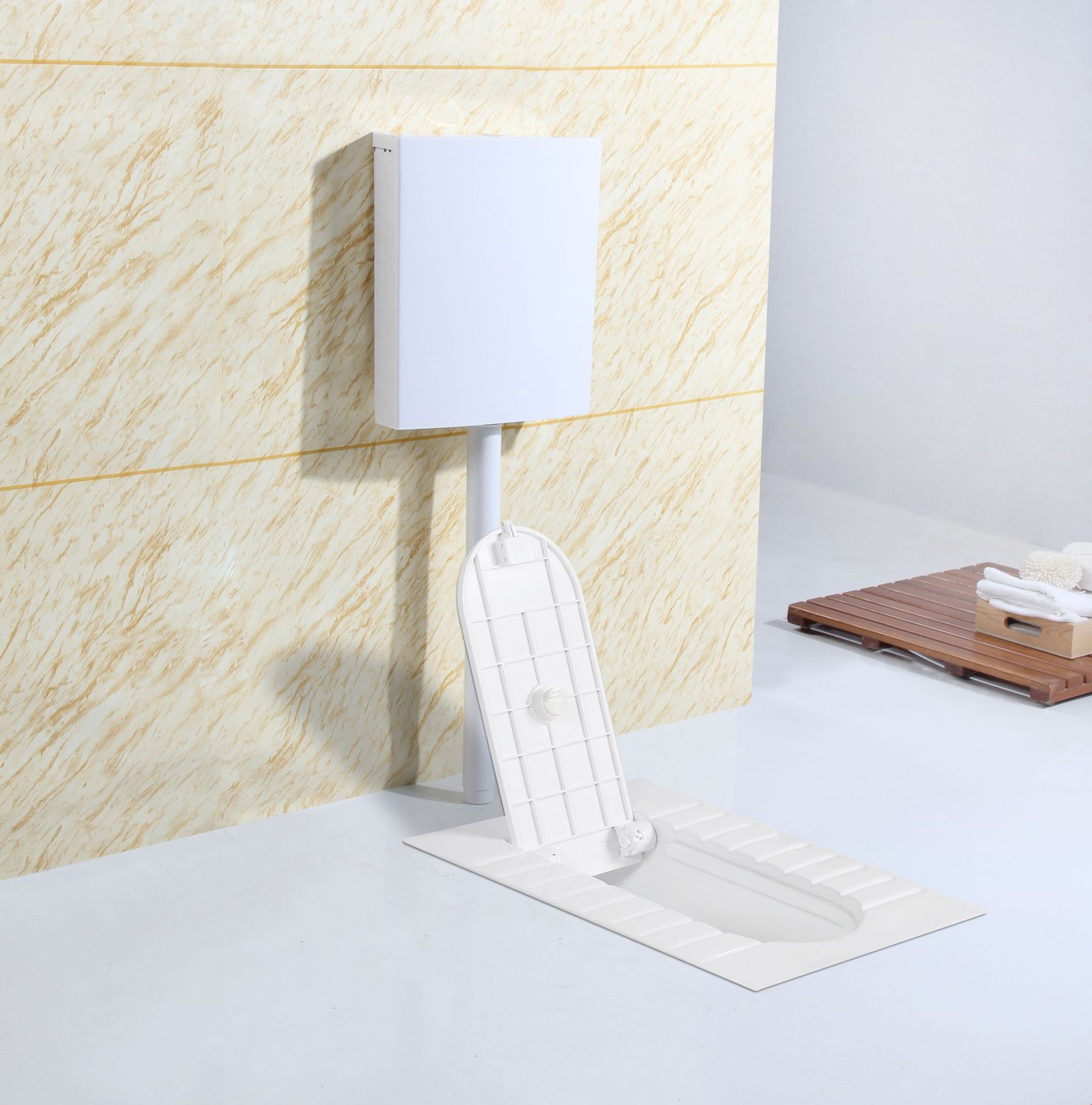 陶瓷带盖板蹲便器 家用带S弯管优质蹲坑 厂家生产工程批量蹲厕