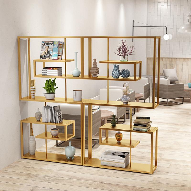 北欧书单铁艺展示书架 简约时尚图书馆书架 客厅简易书架置物架