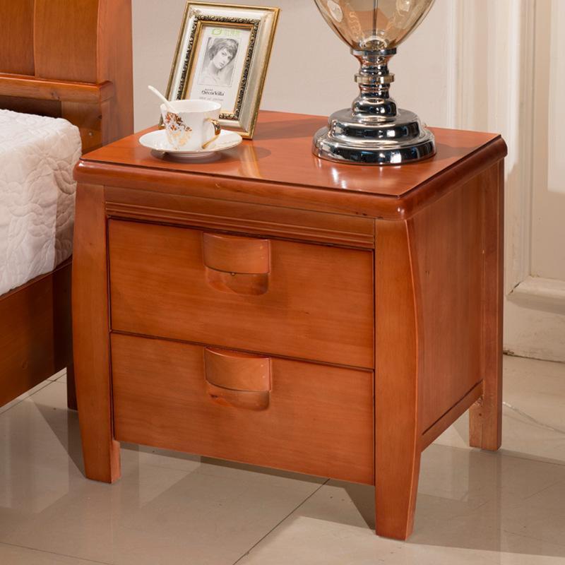 全实木床头柜收纳柜多功能储物柜新中式卧室小柜子
