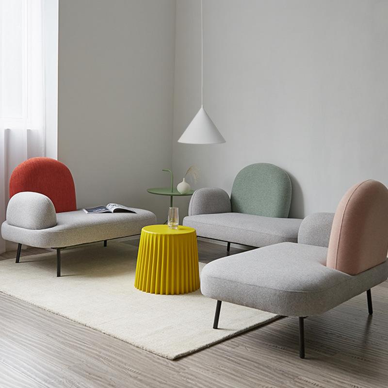 北欧创意小户型公寓网红家用沙发服装美甲奶茶店沙发洽谈接待沙发
