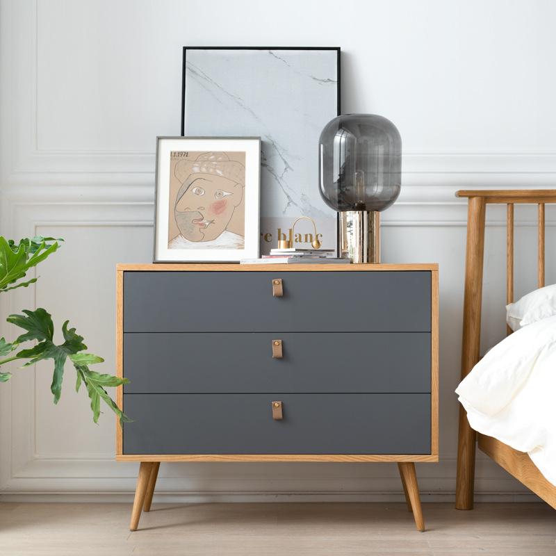 北欧三斗柜实木简约现代卧室储物收纳抽屉柜客厅家具多功能餐边柜