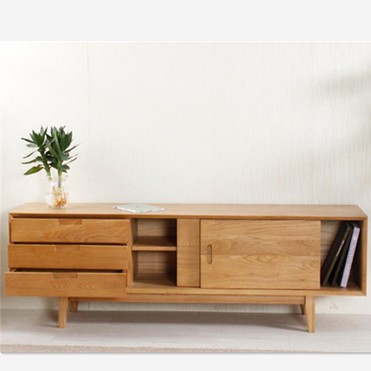 北欧实木电视柜日式白橡木小户型客厅家具现代简约环保影视柜