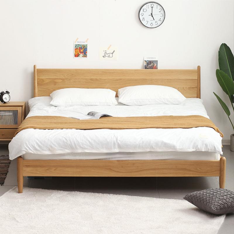 北欧实木床 现代简约卧室家具 白橡木1.8米双人床 日式全实木家具