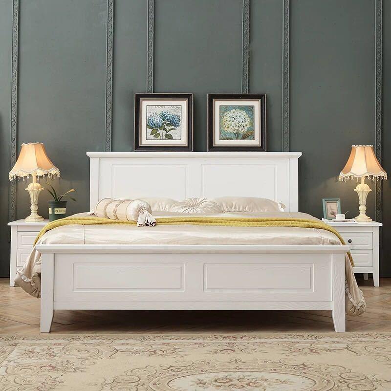厂家直销美式乡村实木床1.8米双人床1.5米轻奢储物高箱床卧室家具