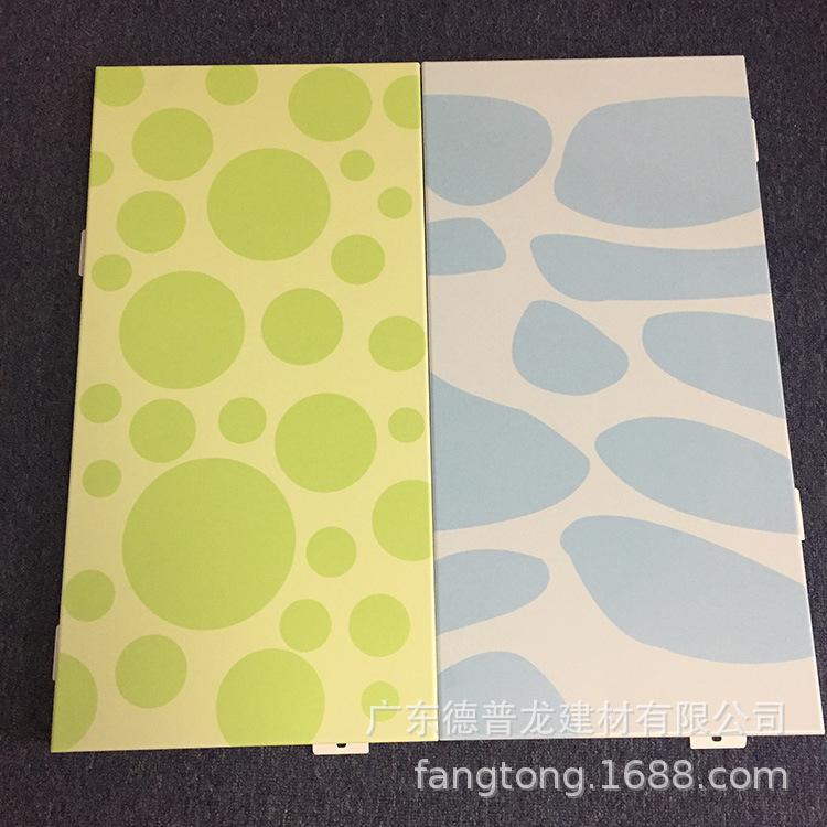 商场自动扶梯彩绘铝单板 护栏彩色铝板装饰材料厂家 铝合金印花板