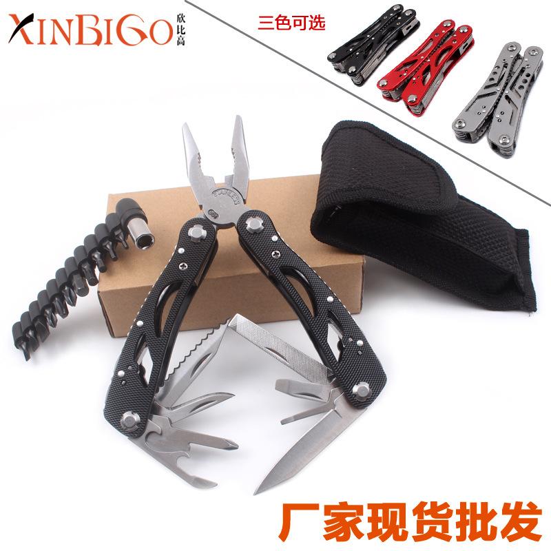 热卖不锈钢多功能刀钳 折叠多用钳子应急工具钳 户外野营用品装备