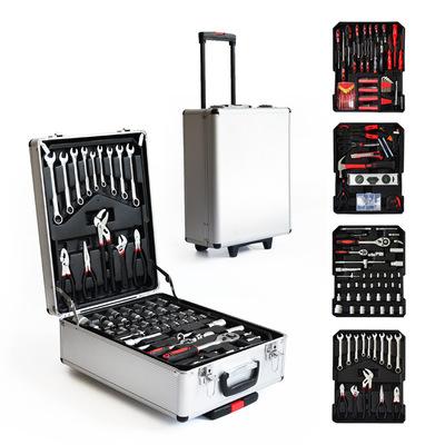 厂家直销立创跨境现货186/217件套拉杆工具可定制五金工具箱套装
