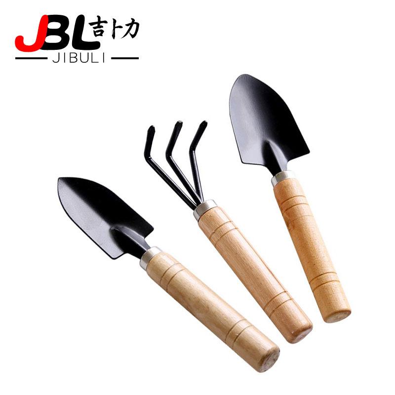 园艺工具三件套 迷你园林工具 小铁铲/耙/锹 植物盆栽种花