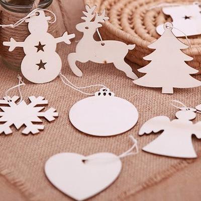 圣诞节挂件纯手工创意挂件DIY木质工艺品圣诞树节日家居装饰道具
