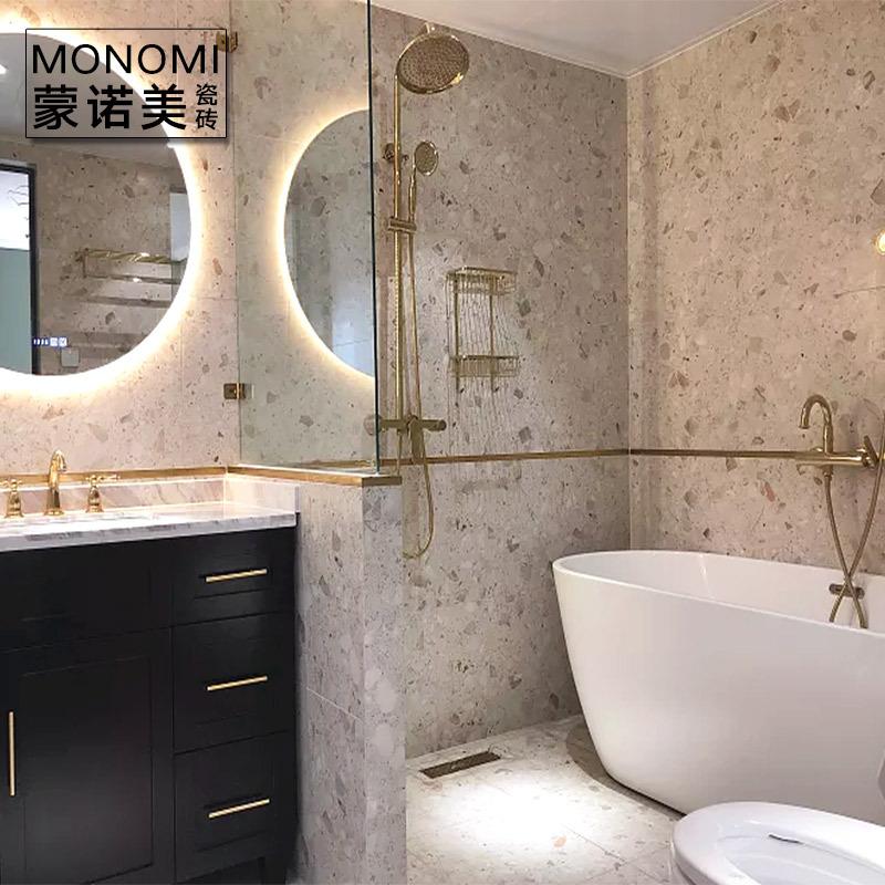 佛山瓷砖 水磨石地砖600x600 卫生间瓷砖 通体砖 仿古砖 防滑地砖