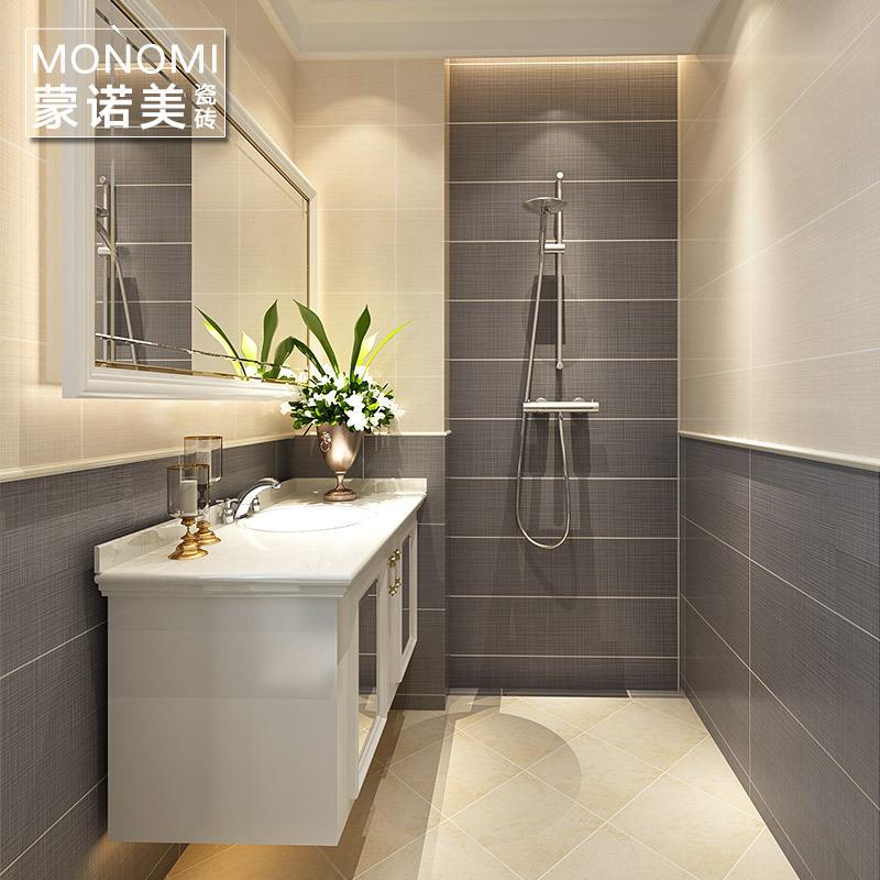 广东佛山瓷砖卫生间瓷砖地砖浴室瓷砖厨卫砖地板砖仿古砖厕所地砖