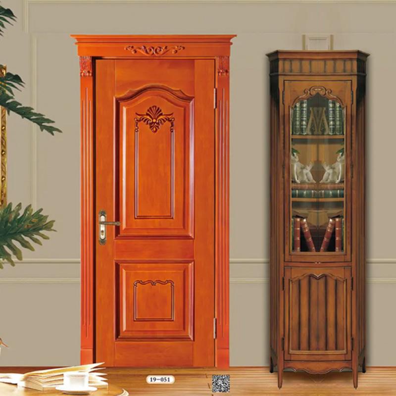 欧式扣线烤漆门 室内复合开放漆木门 平板扣线实木卧室门