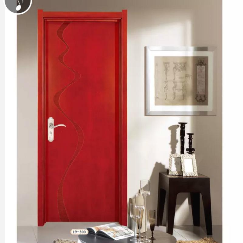 简约实木平开门 普通平板雕刻门免漆木门 实木卧室门复合门