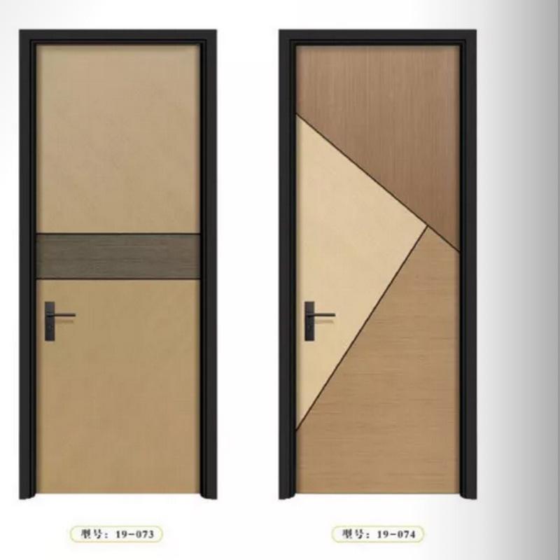 烤漆实木复合门 室内实木平开门推拉木门 轻奢烤漆木门