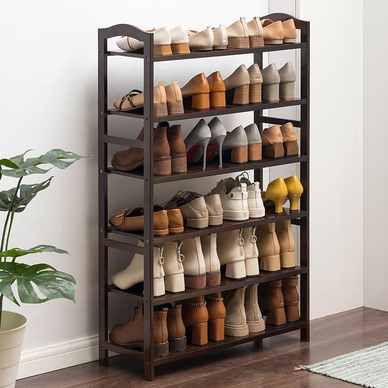 木马人多层鞋架子简易实木收纳鞋柜门口家用经济型置物架宿舍防尘