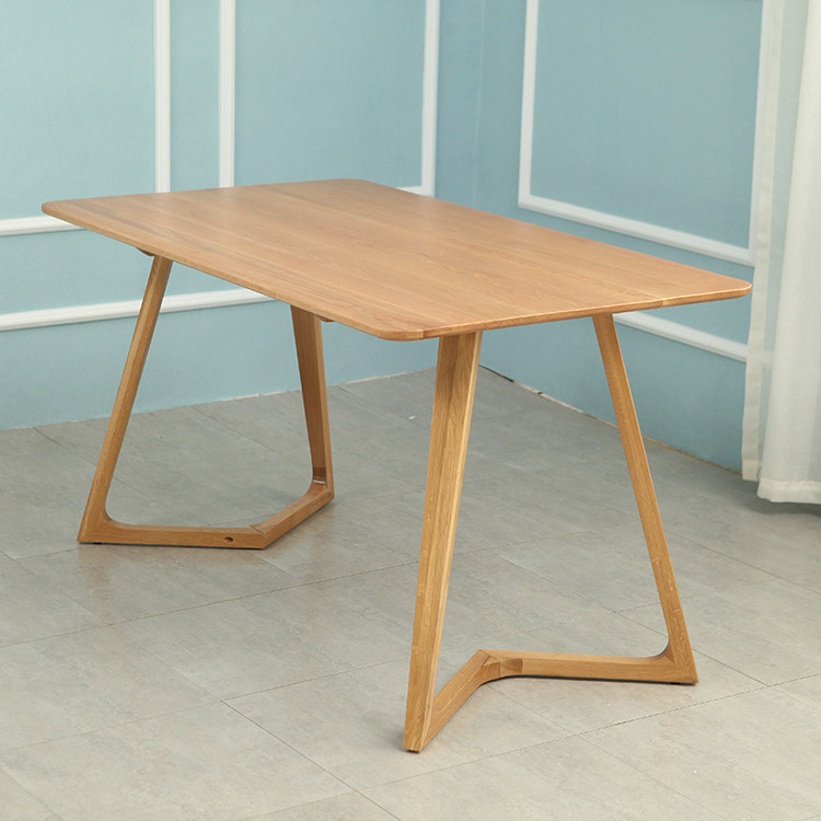 厂家定做实木木质餐桌白橡木桌子家具厂批发木桌餐厅酒店家具