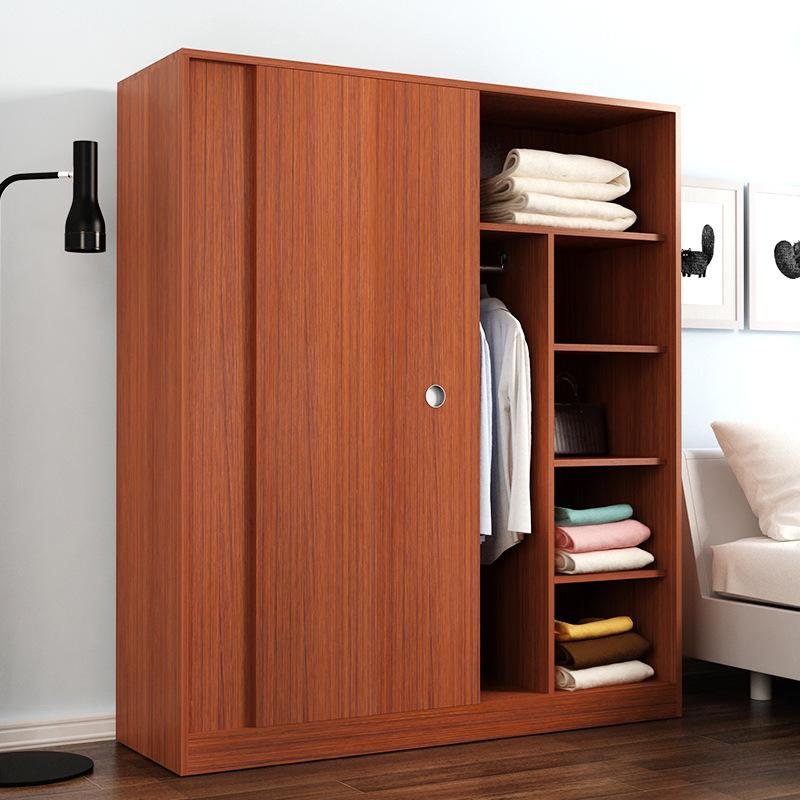 简约现代板式衣柜简易组合推拉门移门衣柜卧室整体大衣柜厂家定制