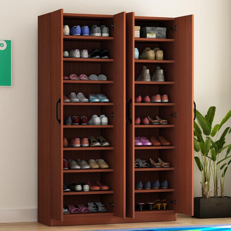 现代简约门厅大容量木质鞋柜储物阳台柜门厅两门三门四门简易鞋柜