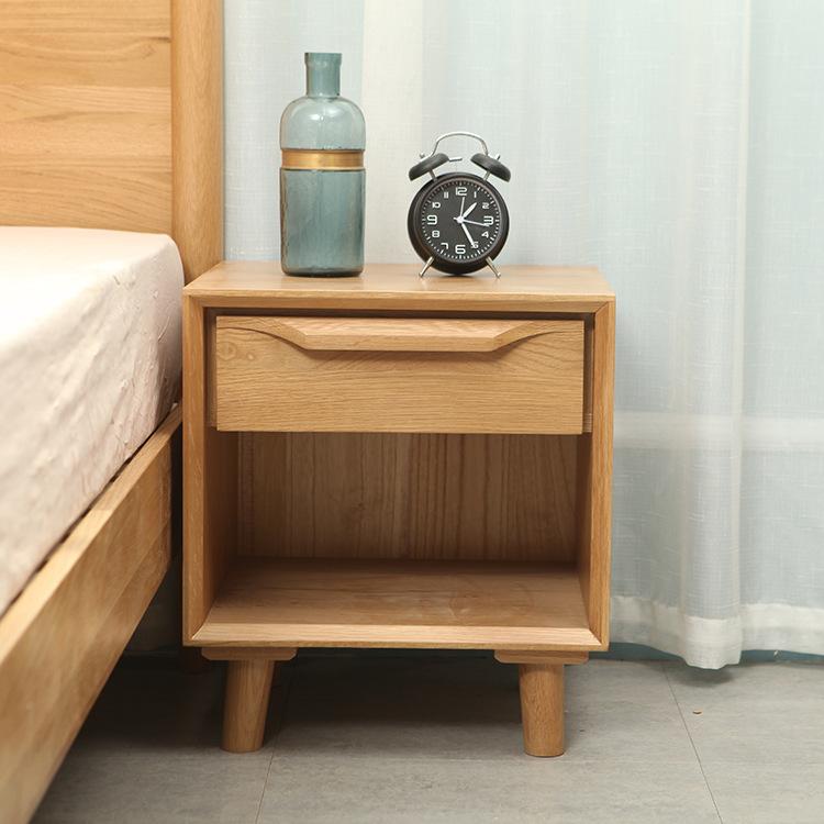 厂家直营床头柜简易实木多功能乐雅系列单抽床头柜收纳柜一件代发