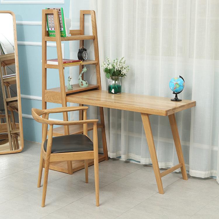 工厂批发北欧纯实木书桌白橡木拉伸书桌写字台书房家具支持定制