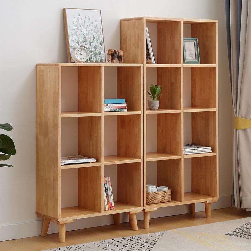 小户型实木简易书柜办公北欧木质书架置物架落地南康家具厂家直销