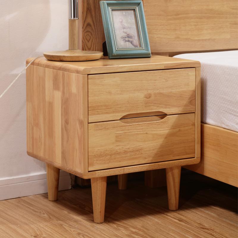 跨境货源北欧风格家具实木床头柜 简约北欧床头柜实木 卧室床边柜