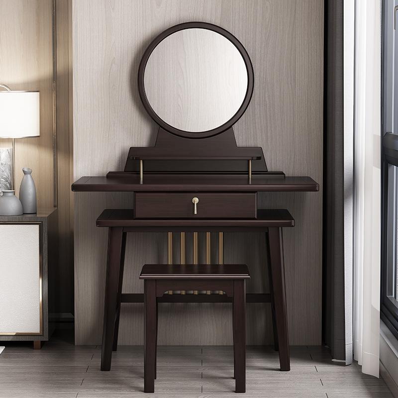 新中式仿古实木梳妆台 大小户型卧室整装家具化妆桌化妆台组合