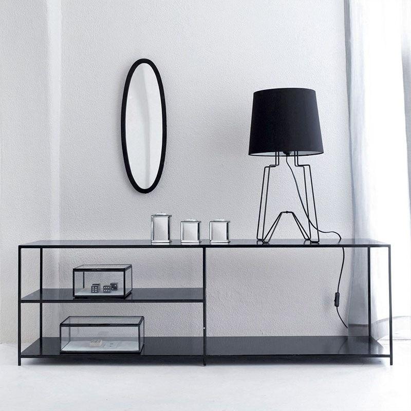 客厅小型房间简易电视柜欧式创意北欧现代简约玄关落地铁艺置物架