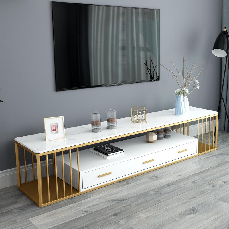 北欧风轻奢电视柜现代简约地柜客厅小户型大理石茶几电视柜组合