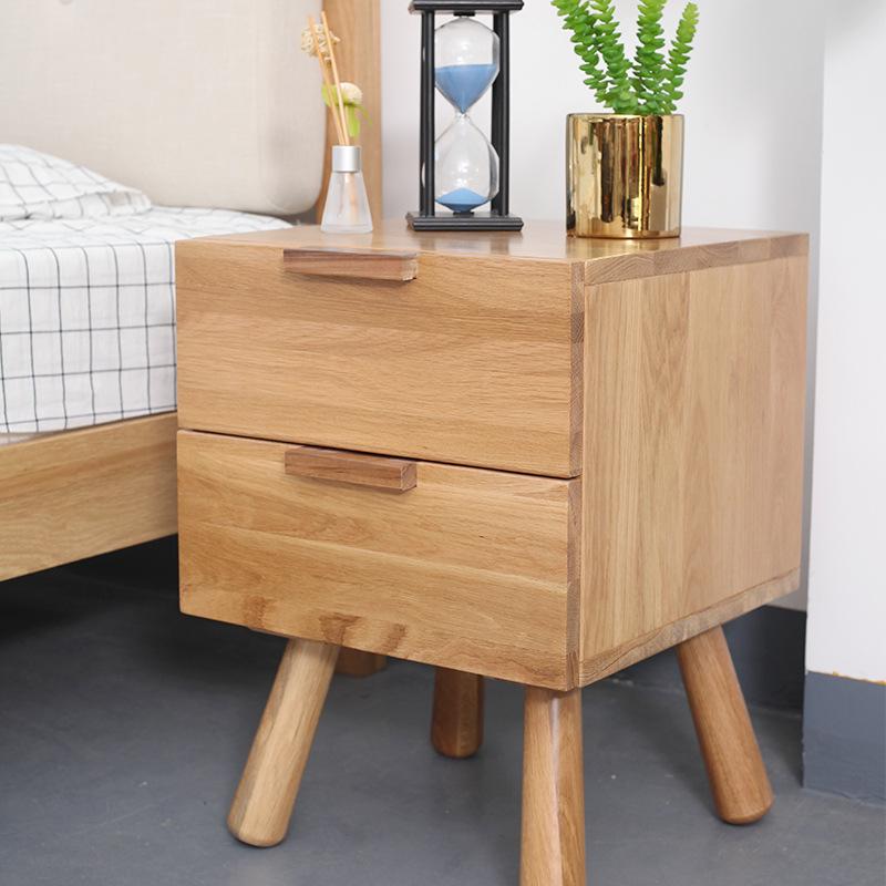 日式床头柜实木简约家具原木卧室床边收纳柜客厅储物柜厂家批发