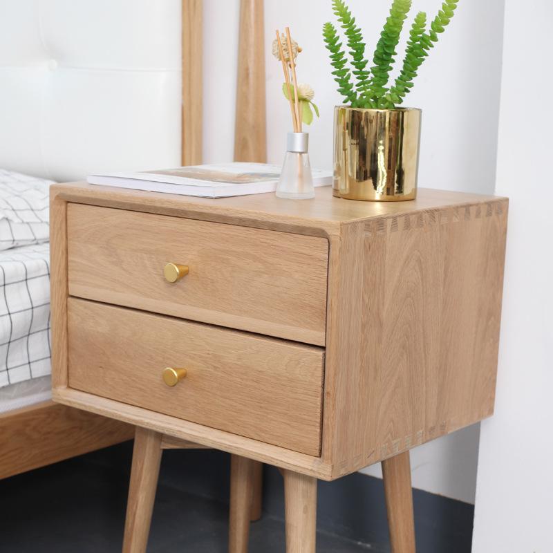 简约实木床头柜全实木家具抽屉储物柜北欧卧室客厅柜厂家直销