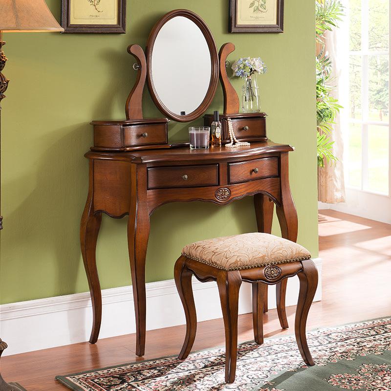 格澜帝尔化妆台组合梳妆台卧室现代简约小户型收纳翻盖化妆桌全套