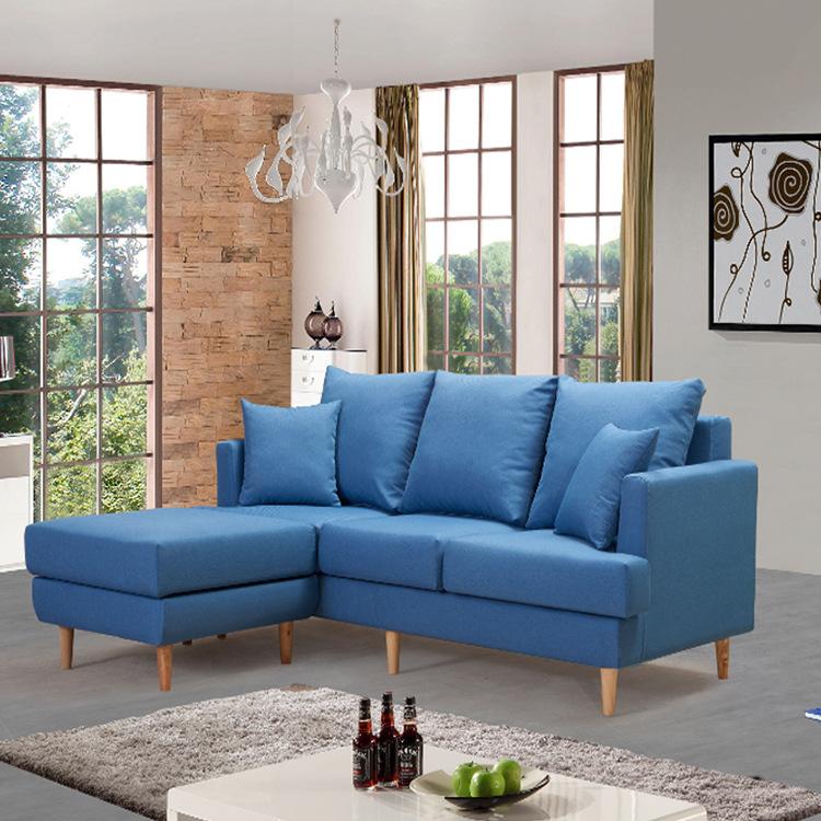 布艺沙发组合客厅小户型 实木沙发北欧现代简约 懒人沙发客厅家具